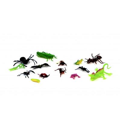 Žaislinių gyvūnėlių / vabzdžių rinkinys