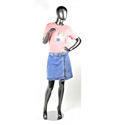 Moteriškas džinsinis sijonas