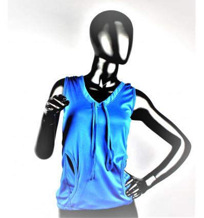 Moteriški sportiniai marškinėliai su gaubtuvu