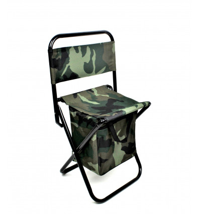 Žvejybinė kėdė su atlošu