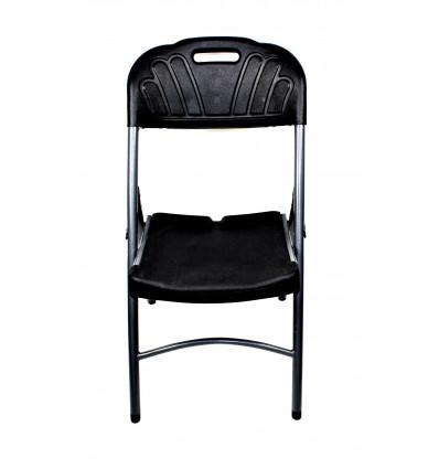 Plastikinė kėdė su metalinėmis kojomis