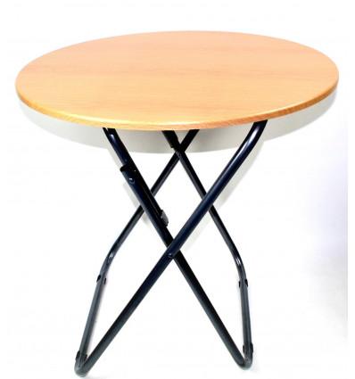 Medinis apvalus staliukas