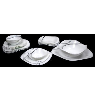 Keramikinių indų pietų komplektas 26 dalių
