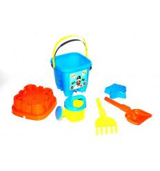 Žaislinis smėlio kibirėlis su įrankiais
