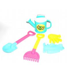 Žaislinis laistytuvėlis su smėlio įrankiais