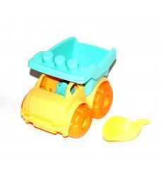 Žaislinis sunkvežimis su kastuvėliu