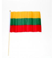 Lietuvos vėliavėlė ant medinio kotelio