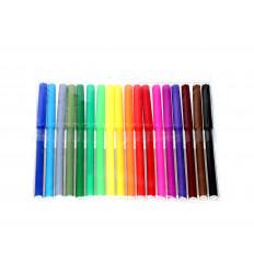 Flomasteriai 18 spalvų