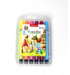 Flomasteriai 12 spalvų