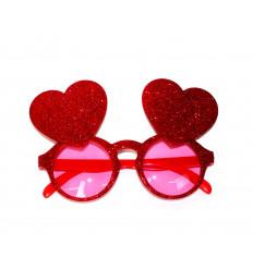 Vakarėlio akiniai su širdelėmis