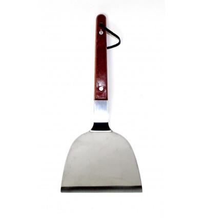 Metalinė lopetėlė su medine rankena