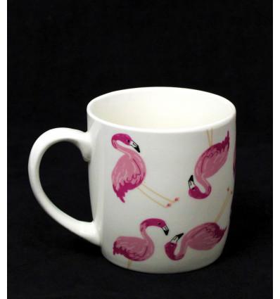 Keramikinis puodelis su flamingais