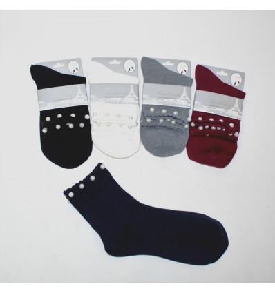Moteriškos kojinės su perliukais
