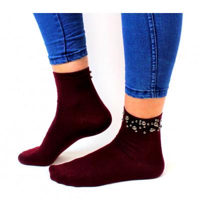 Moteriškos kojinės su karoliukais