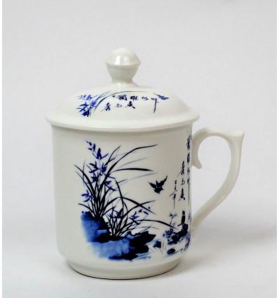 Keramikinis puodelis su dangteliu