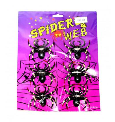 Vakarėlio dekoracija - šeši vorai