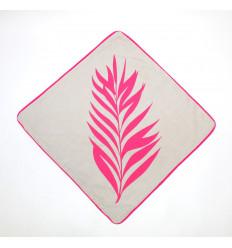 Užvalkaliukas pagalvei rožinis augalas