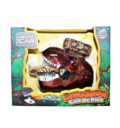 Žaislinė dinozauro galva + 2 automobiliai