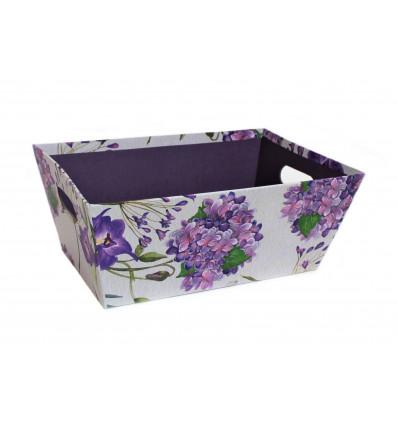 Popierinė dovanų dėžutė su gėlėmis