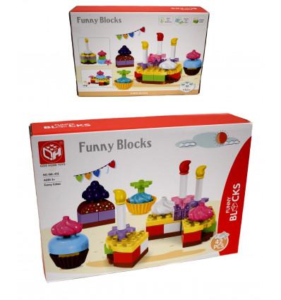 Žaislinis kaladėlės-tortas dėžutėje 188-412
