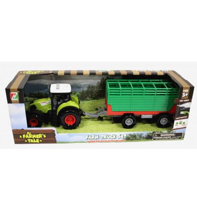 Žaislinis traktorius su priekaba 550-8E