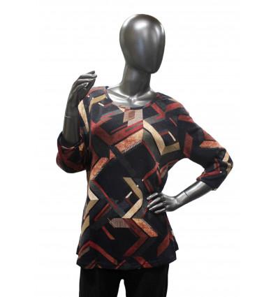 Moteriška palaidinė ilgomis rankovėmis pašiltinta S4522-35 Natalia
