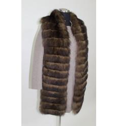 Moteriškas paltukas + natūralaus kailio liemenė