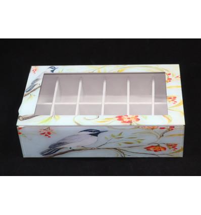 Dekoratyvinė stiklo dėžutė