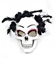 Vakarėlio kaukė - kaukolė