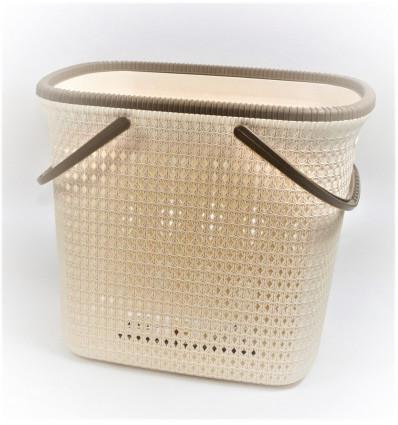 Plastikinis krepšys su rankenomis
