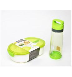 Plastikinis priešpiečių indelis su gertuve