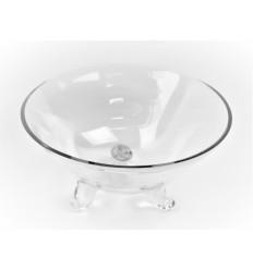 Stiklinė vaza - lėkštė