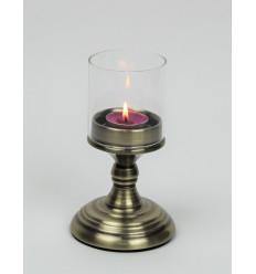 Metalinė žvakidė su stikliuku